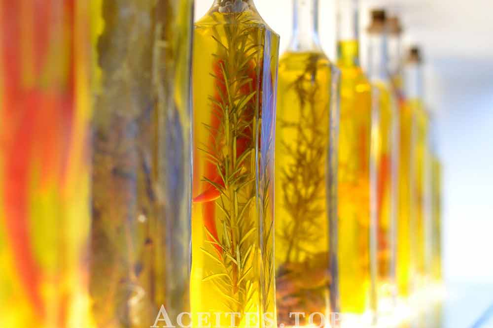 aceite aromatizado botellas